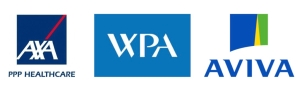 Image with the AXA PPP, WPA, Aviva logos